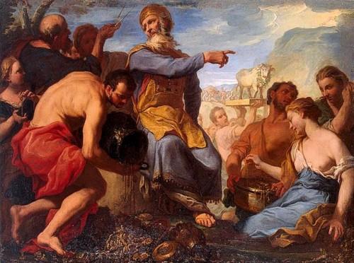 Le veau d'or (c. 1700) d'Antonio MOLINARI.jpg